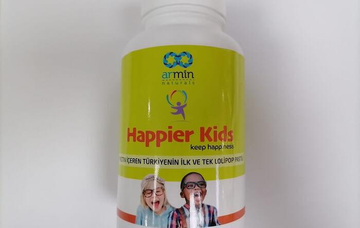 Happier kids çocuklar için çiğneme gıda takviyesi